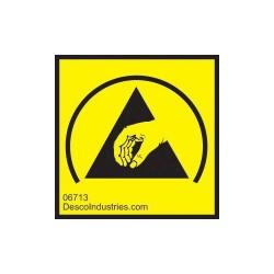 Desco - 06713 - ESD Protective Symbol Label, Permanent, 1 x 1, 1000/Roll