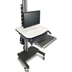 IAC Industries - QS2052005 SMS-S5 - Mobile Workstation Cart with Front Mounted Monitor Display Bracket