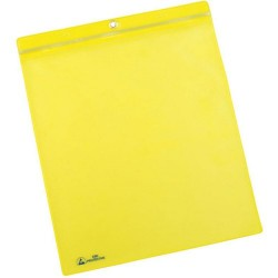 Menda / Desco - 34452 - ESD Shop Traveler with Zip, Yellow, 10 x 12, Metal Grommet, 10/PK
