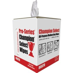 General Tools - 86870 - CHAMPION SELECT Medium Grade Purpose Wipes, 9x12 4 Boxes/1200/Case