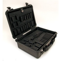 Platt Cases - 1520T-CB - Tool Case, 19-1/8x15-1/2x7-5/8, Black