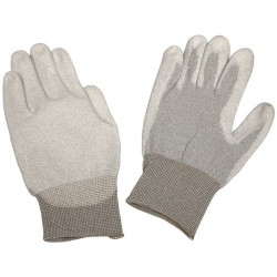 Desco - 68125 - ESD-Safe Dissipative Gloves with Foamed Polyurethane Coating, Small, Pair