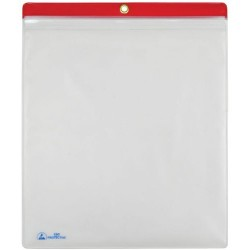 Menda / Desco - 34454 - ESD Shop Traveler with Zip, Clear with Red Header, 10 x 12, 10/PK