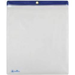 Menda / Desco - 34455 - ESD Shop Traveler with Zip, Clear with Blue Header, 10 x 12, 10/PK