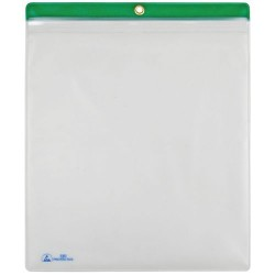 Menda / Desco - 34456 - ESD Shop Traveler with Zip, Clear with Green Header, 10 x 12, 10/PK