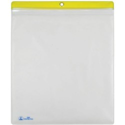 Menda / Desco - 34457 - ESD Shop Traveler with Zip, Clear with Yellow Header, 10 x 12, 10/PK