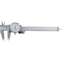 Fowler - 52-008-006-2 - Stainless Steel Premium Dial Caliper, 0-6 Measuring Range, 0.001 Graduation Interval, 0.001 Accuracy, 1.6 Jaw Depth, Face C