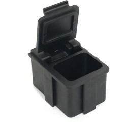 Transforming Technologies - SM0873 - ESD-Safe SMD Storge Box with Black Lid, 16 x 12 x 15 mm (MOQ=5)