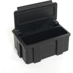 Transforming Technologies - SM0874 - ESD-Safe SMD Storge Box with Black Lid, 37 x 12 x 15 mm (MOQ=5)