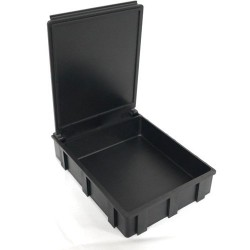 Transforming Technologies - SM0876 - ESD-Safe SMD Storge Box with Black Lid, 68 x 57 x 15 mm