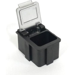 Transforming Technologies - SM0880 - ESD-Safe SMD Storge Box with Transparent Lid, 16 x 12 x 15 mm (MOQ=5)