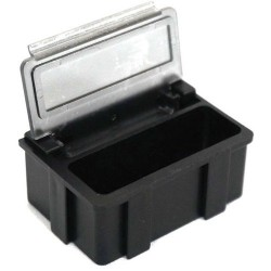 Transforming Technologies - SM0881 - ESD-Safe SMD Storge Box with Transparent Lid, 37 x 12 x 15 mm (MOQ=5)