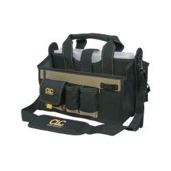 Custom Leathercraft - 1529 - Custom Leather Craft 1529 16-Inch 16-Pocket Shoulder Strap Center Tray Tool Bag