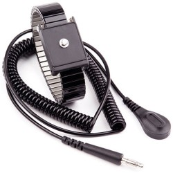 Transforming Technologies - WB6043 - Metal Wrist Strap with 4mm Snap and 12 Cord