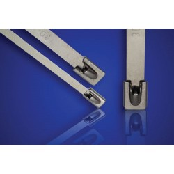 ACT Fastening Solutions - AL-08-100-SS-C - ACT Stainless Steel Cable Tie - Cable Tie
