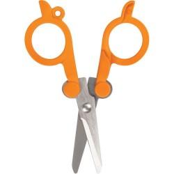 Fiskars - 01005434 - Fiskars Folding Scissors - 4 Overall Length - Left/Right - Stainless Steel - Orange - 1 Each