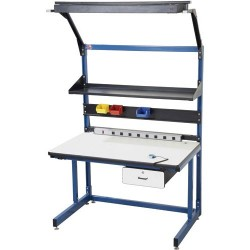 Pro Line - BIB19 - Cantilever Workstation Kit with Standard Top, 60 L x 30 D x 30 to 36 Adjustable Height