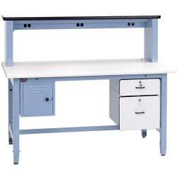 Pro Line - BIB12 - Technical Workbench Kit with ESD-Safe Top, 60 L x 30 D x 30 to 36 Adjustable Height