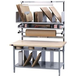 Pro Line - BIB10 - Packaging Workstation Bench Kit with Maple Top, 72 L x 30 D x 30 to 42 Adjustable Height