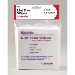 ACL Staticide - 8067 - Lint-Free 45% Polyester and 55% Cellulose Wipes, 4 x 4, 20/Bag