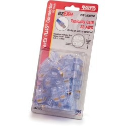 Platinum Tools - 100028C - Platinum Tools ezEX44 10G RJ45 Connectors for 0.039 to 0.044 Conductors - 50 Pack Clamshell