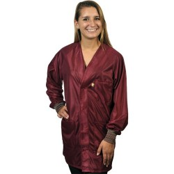 Tech Wear - HOJ-33C-S - Small Burgundy Jacket W/3 Pockets/cuffs