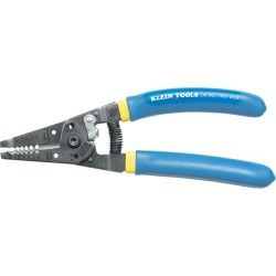 Klein Tools - 11054 - Klein Tools Klein-Kurve Wire Stripper/Cutter - Solid & Stranded Wire - 7.1 Length - Blue, White - 5.44 oz - Comfortable Grip - 1 Each