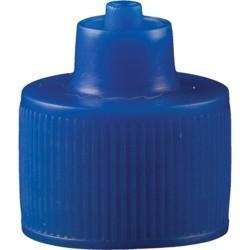 Jensen Global - JGC-512B-100 - Blue 1 Ounce Luer Lock Bottle Cap , 100/Bag