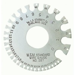 L.S. Starrett - 287 - American Standard Wire Gage, Hardened, Satin Finish 0.3065-0.009 Diameter Range