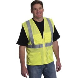 Protective Industrial Products (PIP) - 302-MVGZ4PLY - ANSI Class 2, Four Pocket Mesh Vest, X-Large