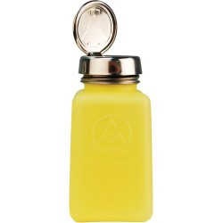 Menda / Desco - 35267 - DurAstatic Dissipative Yellow HDPE Bottle with Pure-Touch Pump, 6 oz