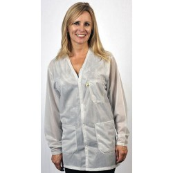 Tech Wear - VOJ-13-M - ESD-Safe Shielding Jacket, White, Medium