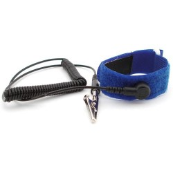 Botron - B9268 - Hook & Loop Adjustable Wrist Strap with 6 ft. Cord, 1/8 Snap