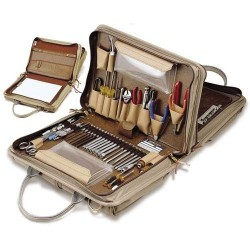 Jensen Tools - JTK-49DBLR - Workstation Kit in Double-Sided Khaki Cordura Case