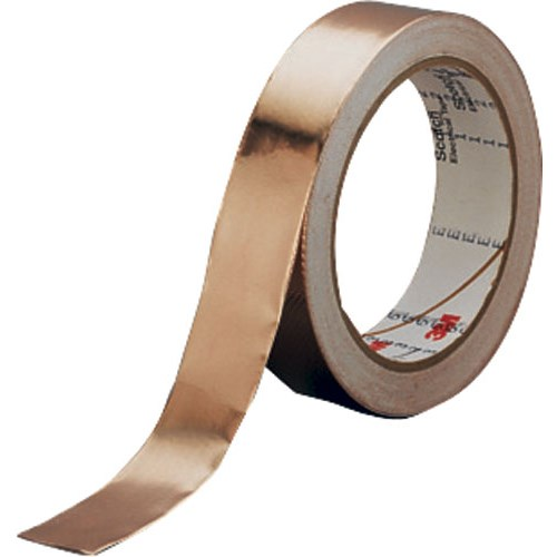 3M - 1181-2 - Smooth Copper Foil Conductiv Acrylic Adhesive Tape, 2.6 mil Total, 2