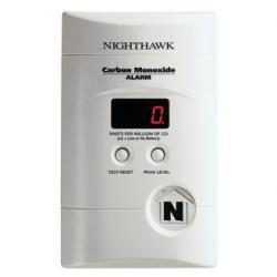 Kidde Fire and Safety - 900-0076-01 - KN-COPP-3 - Carbon Monoxide CO Alarm with Digital Display, 9V Backup, Peak Level, Plug-In, Nighthawk sensor