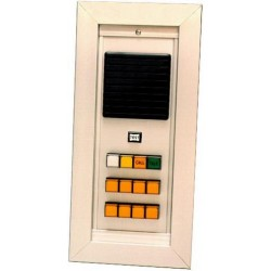 Alpha Communications - NC150R - 8 unit area of refuge master annunciator. Requires 8-RP021CM lens caps, OH150 flush housing, PK151A power supply, and SS106 transformers. Includes OF150 frame