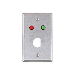 Alarm Controls - RP-4 - Alarm Controls , RP-4 , Single gang stainless steel D-hole plate with red and green led
