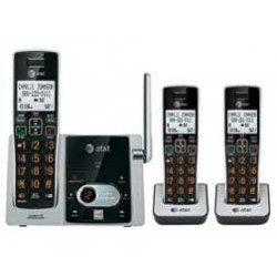 AT&T - CL82313 - AT&T CL82313 DECT 6.0 Cordless Phone - Cordless - 1 x Phone Line - 2 x Handset - Speakerphone - Answering Machine - Hearing Aid Compatible