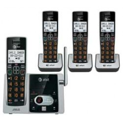 AT&T - CL82413 - AT&T CL82413 DECT 6.0 Cordless Phone - Cordless - 1 x Phone Line - 3 x Handset - Speakerphone - Answering Machine - Hearing Aid Compatible