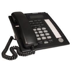 Panasonic - KX-T7736-B - Panasonic KX-T7736 Corded Telephone - 12 x Phone Line(s) - 1 x Headset - Black