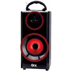 QFX - BT168R - Bluetooth Boombox Red