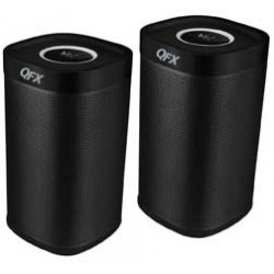 QFX - BT275 - Dual Stereo Bluetooth Speakers Black
