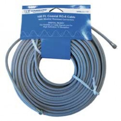 Winegard - CX6100 - 100' RG6 Cable with O Ring Connectors
