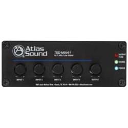 Atlas Sound - TSD-MIX41 - Atlas Sound TSD-MIX41 4 x 1 Mic/Line Mixer