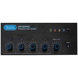 Atlas Sound - AA100PHD - Atlas Sound AA100PHD Amplifier - 100 W RMS - Black - Multizone - 0.5% THD - 50 Hz to 15 kHz - 300 W