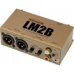 Whirlwind - LM2B - 2 Channel Active Converter -10dB RCA/Mini TRS to 4dB XLRM w/ Gain Con