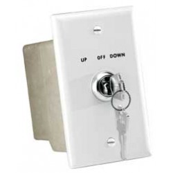 Da-Lite - 74490 - Key Operated Switch 115 Volt White Cust Pays Frt
