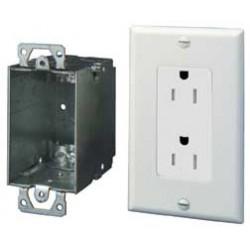 On-Q / LeGrand - 36456902V1 - ON-Q 36456902V1 Surge Protected Duplex Power Kit