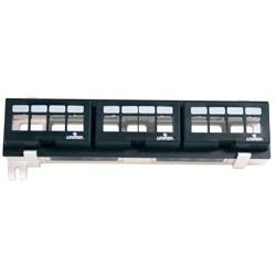 Leviton - 47689-QP - Leviton QuickPort 47689-QP 12-Port Multimedia Patch Block - 12 - 12 Port(s) - 12 x RJ-11